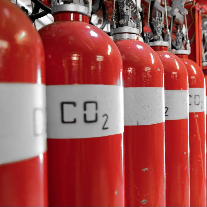 Estintori a CO2 (biossido di carbonio)